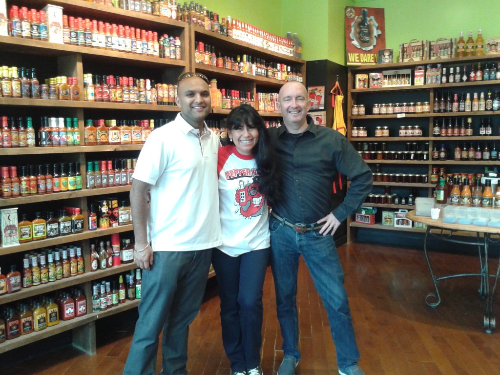 Tasting some of the hottest sauces at the Pepper Palace