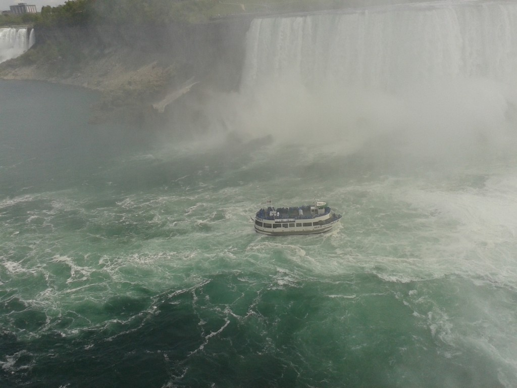 Hornblower Cruises operate from the Canadian side and the Maid of the Mist offers trips from the US side.