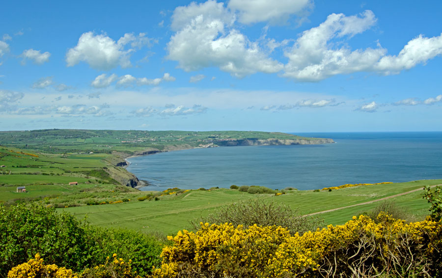Robin Hood's Bay from Ravenscar by Angie Aspinall