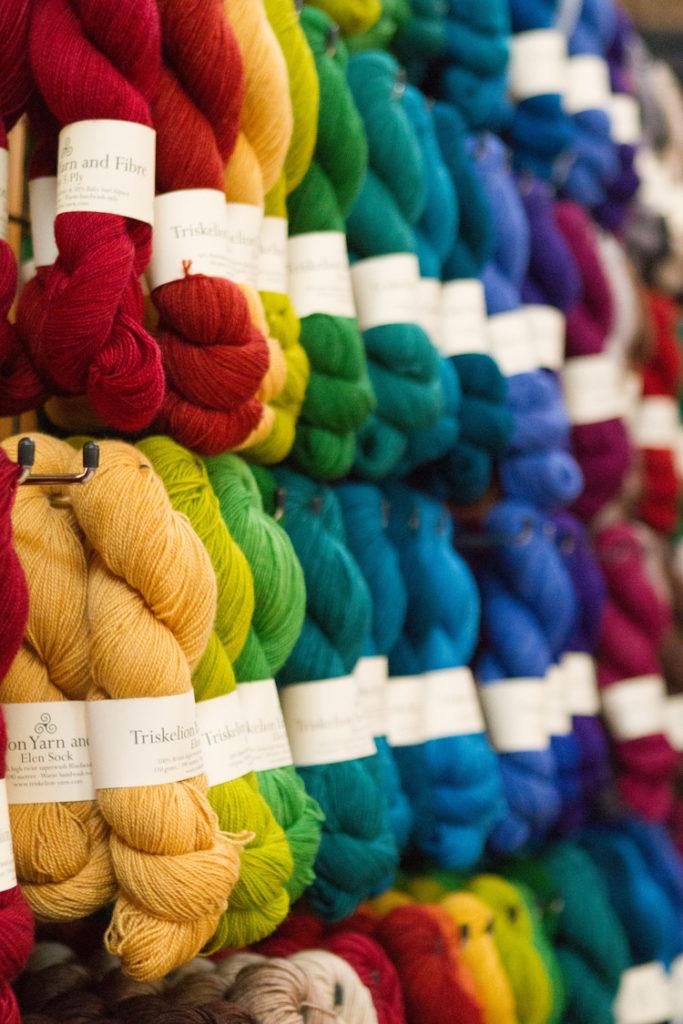 yarn in teh city (wool from website)