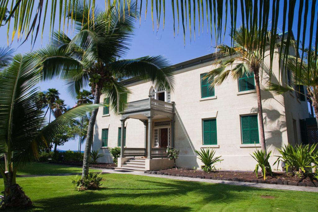 Front of Hulihee Palace Hawaii Island Kailua-Kona