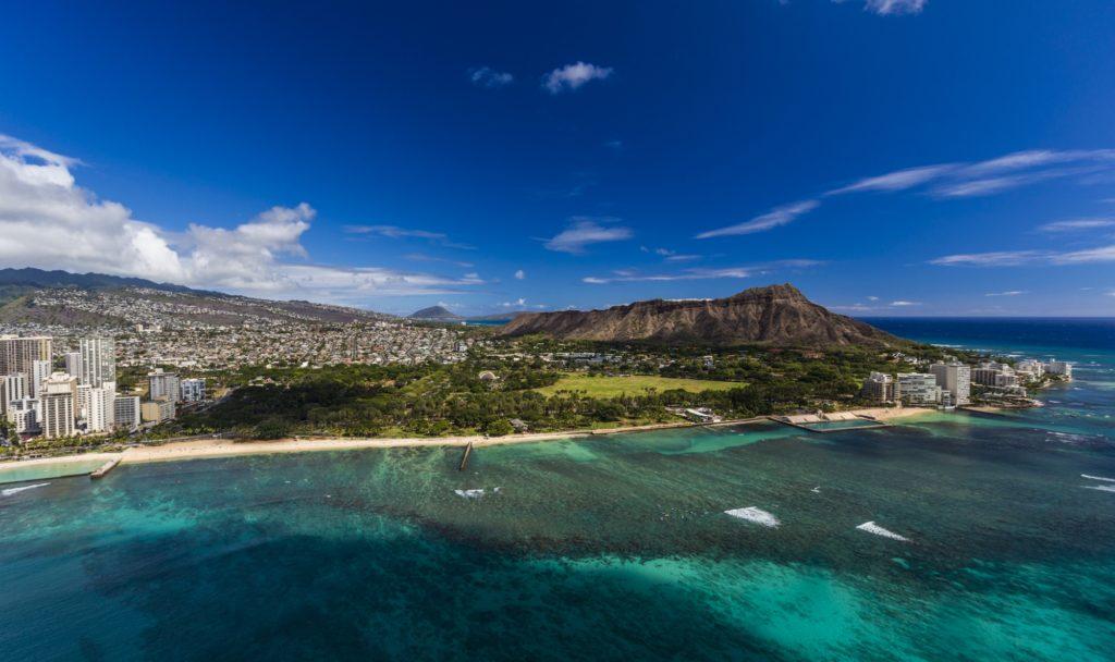 Kapiolani Park area and Leahi, Waikiki, Oahu