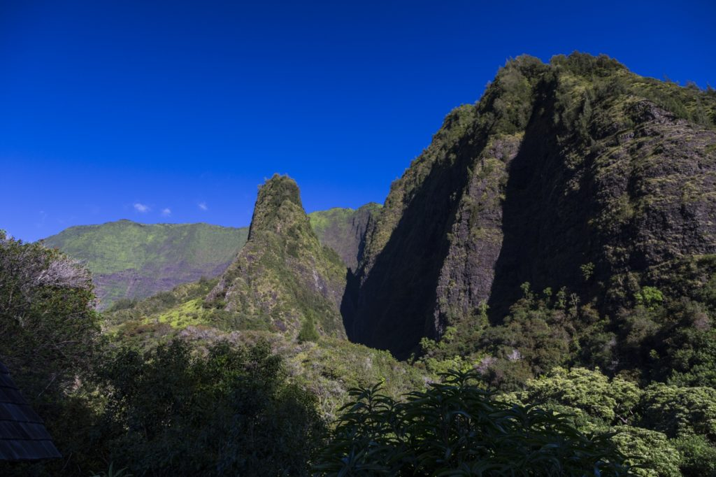 Blue skies over Iao Valley State Park, Mau