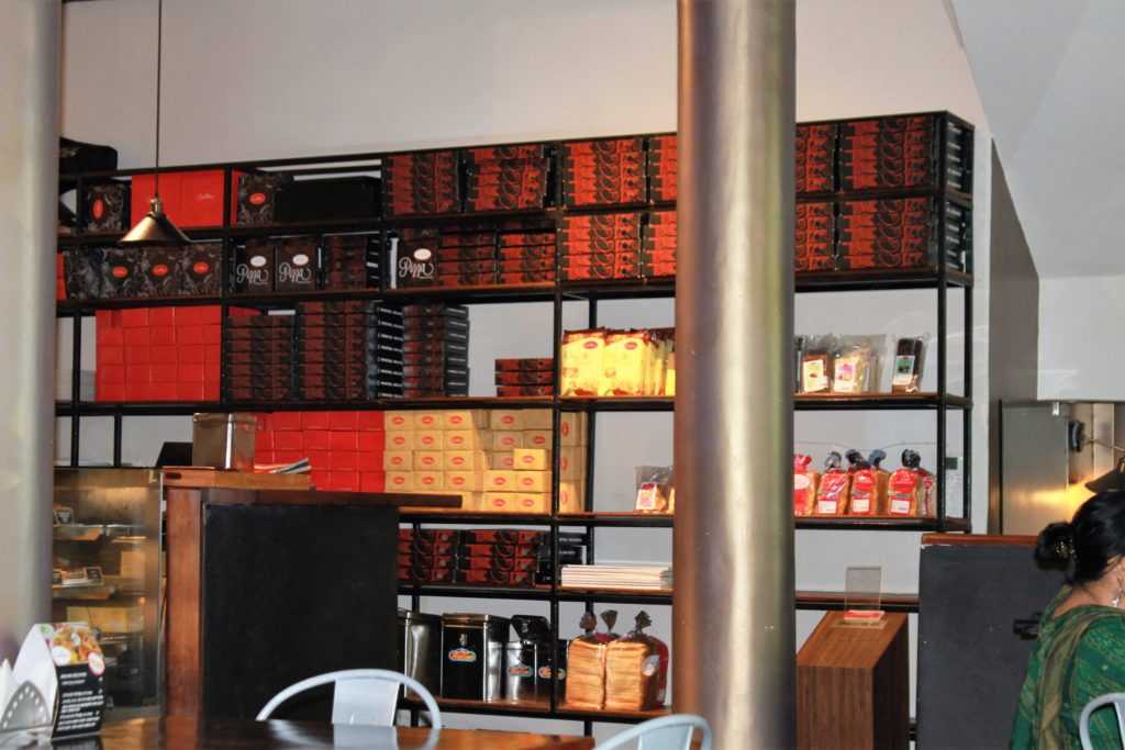 A great choice of pizzas and sandwiches at the Cremeux Cafe and Bistro